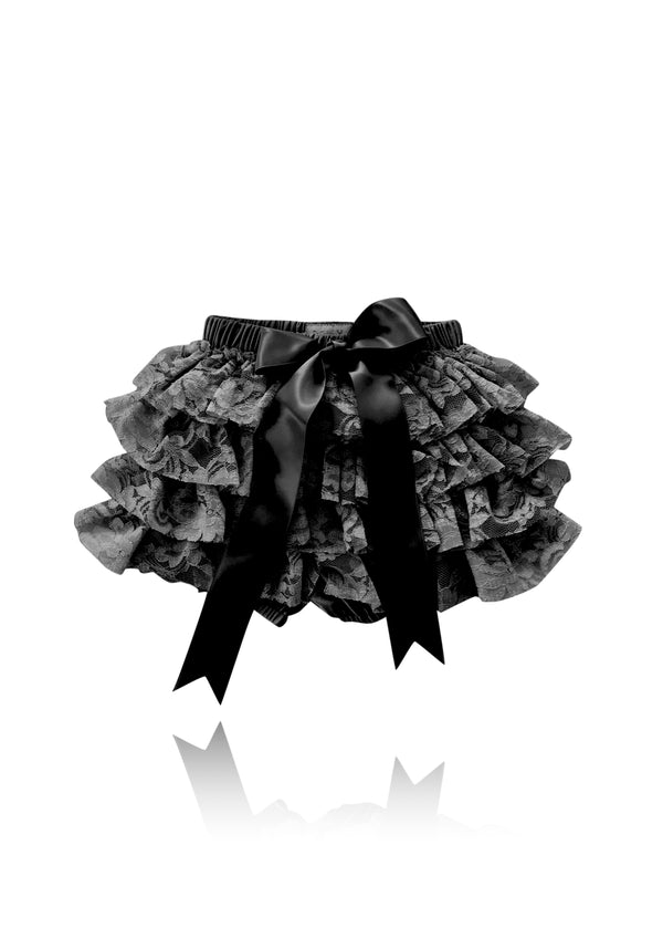 [OUTLET] DOLLY by Le Petit Tom ® LACY FRILLY PANTS TUTU BLOOMER black