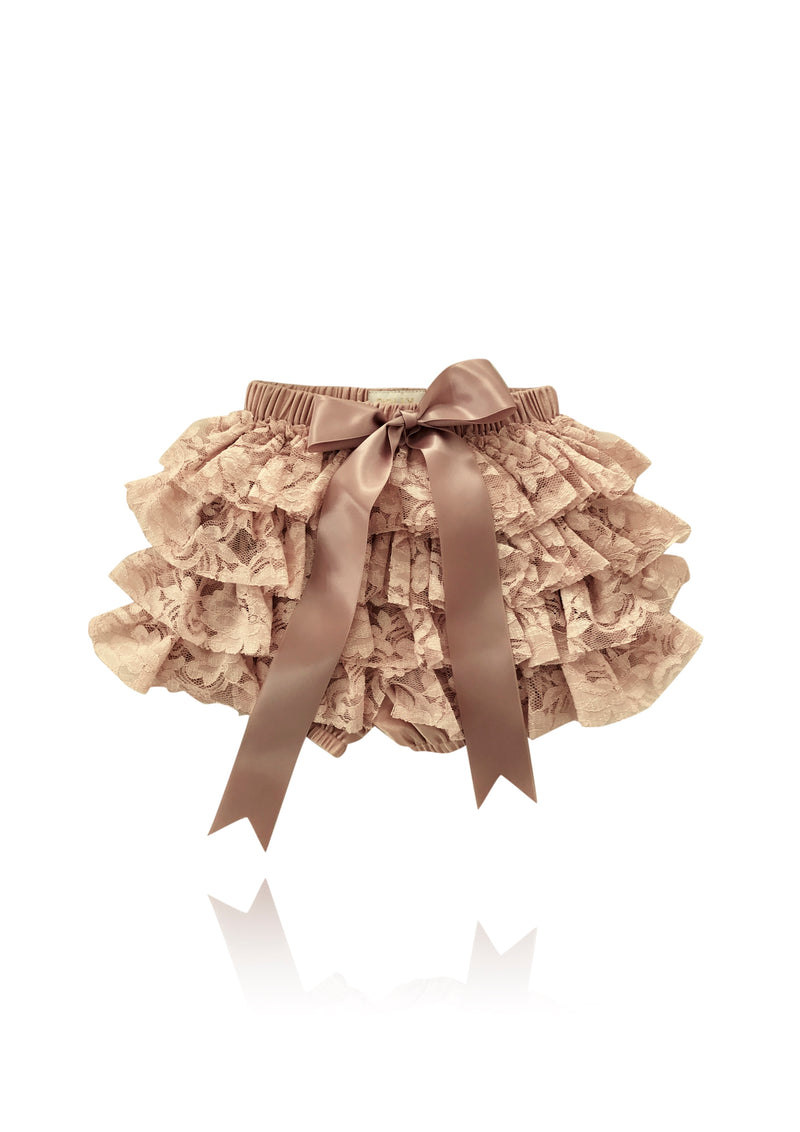 [OUTLET] DOLLY by Le Petit Tom ® LACY FRILLY PANTS TUTU BLOOMER taupe