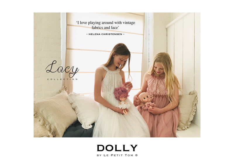 [ OUTLET!] DOLLY by Le Petit Tom ® LACY NECKLACE MAXI TUTU DRESS off-white
