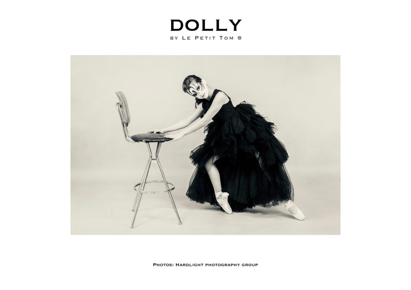 DOLLY by Le Petit Tom ® LACY DARING HIGH-LOW TUTU DRESS black