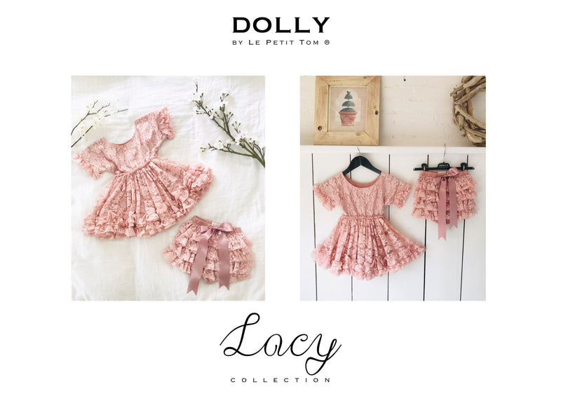 DOLLY by Le Petit Tom ® LACY FRILLY DRESS pink