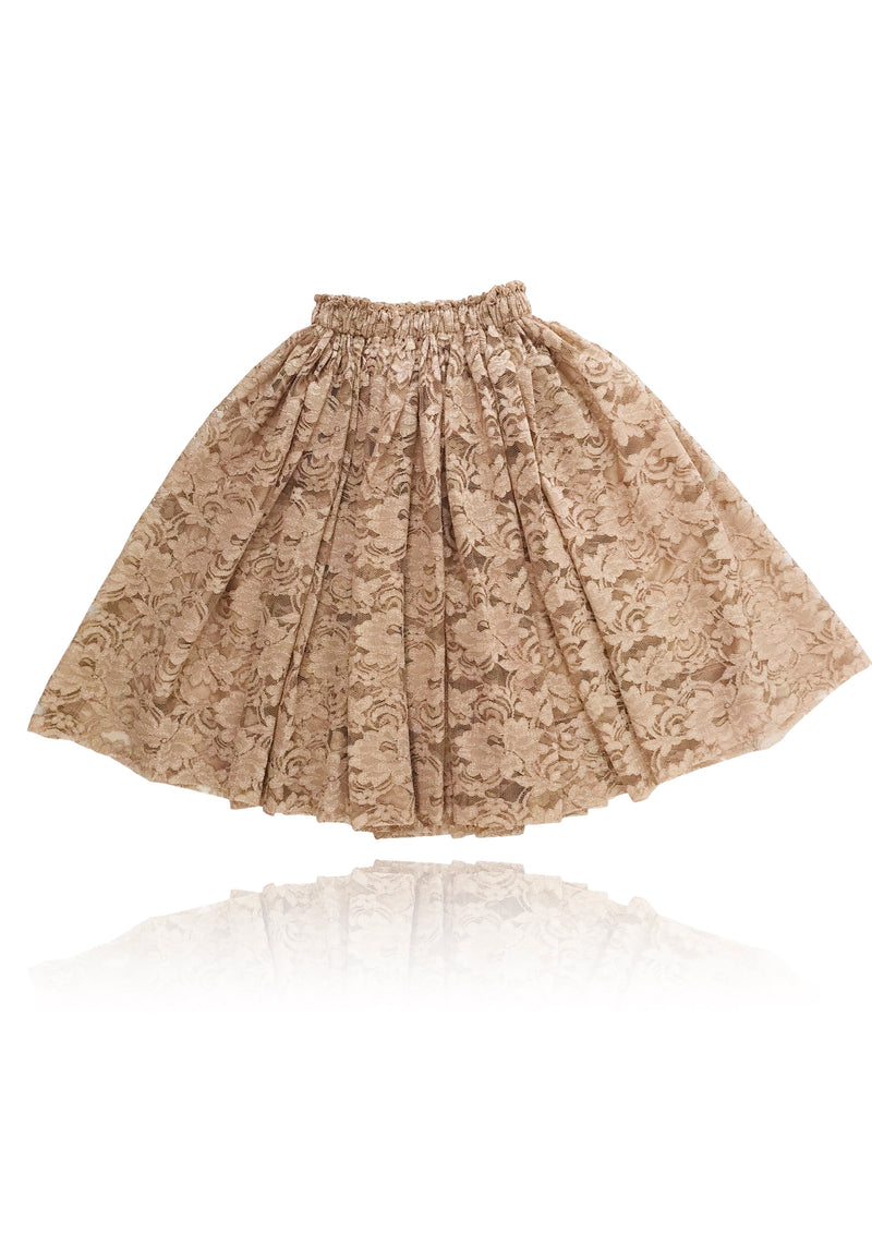 DOLLY by Le Petit Tom ® LACY LONG TUTU taupe