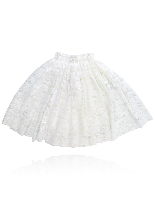 DOLLY by Le Petit Tom ® LACY LONG TUTU off-white