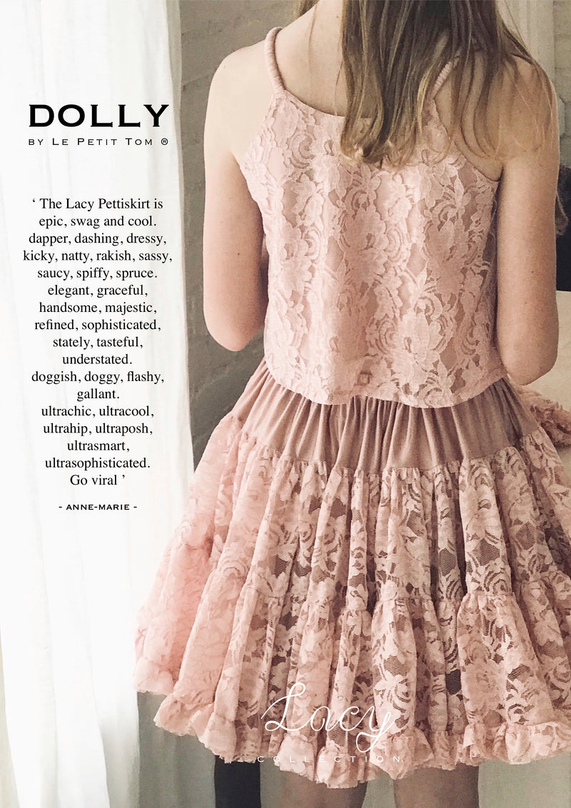 DOLLY by Le Petit Tom ® LACY PETTISKIRT pink