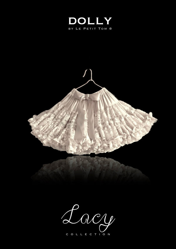 [ OUTLET] DOLLY by Le Petit Tom ® LACY PETTISKIRT off-white
