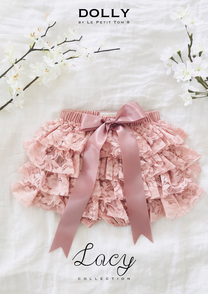 DOLLY by Le Petit Tom ® LACY FRILLY PANTS TUTU BLOOMER pink