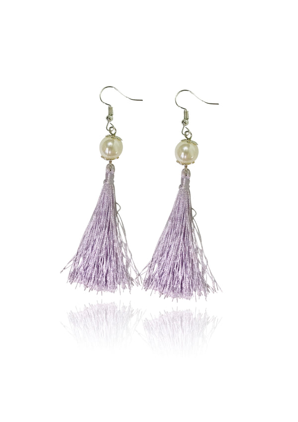 [EXPECTED NOV.] DOLLY GOLIGHTLY Breakfast @ Tiffany's LAVENDER TASSEL EARRINGS