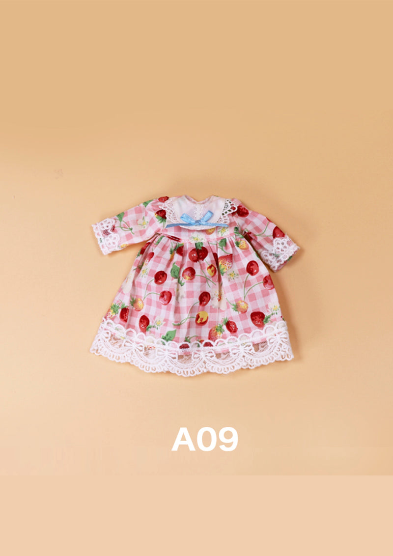 DOLL CLOTHING A09 for LUCKY Doll Bjd 1/6  flower print dress
