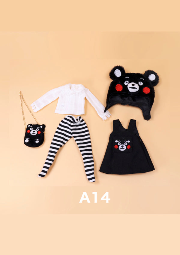 DOLL CLOTHING A14 for LUCKY Doll Bjd 1/6  bear dress suit, bag