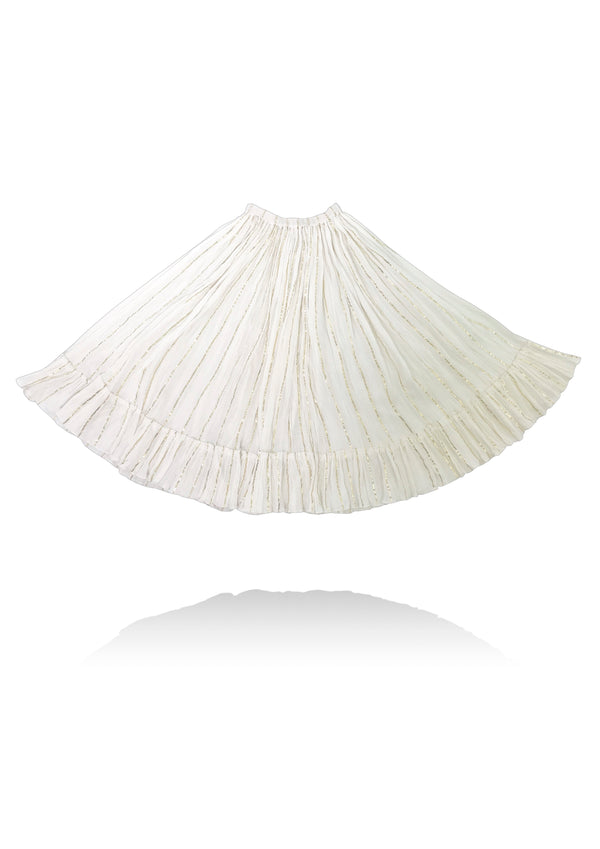 [ OUTLET!] DOLLY by Le Petit Tom ® JEWELER'S CRYSTALS gold stripe maxi skirt