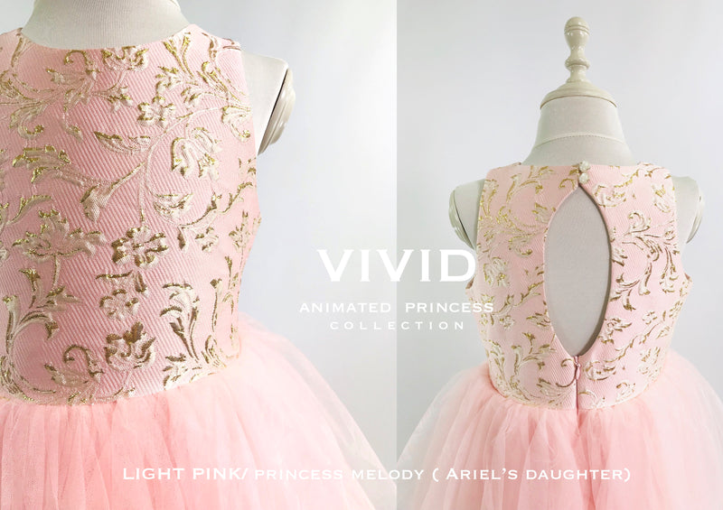 [OUTLET!] DOLLY by Le Petit Tom ® VIVID ANIMATED PRINCESS MELODY ( Ariel's Daughter)  JACQUARD DRESS pink
