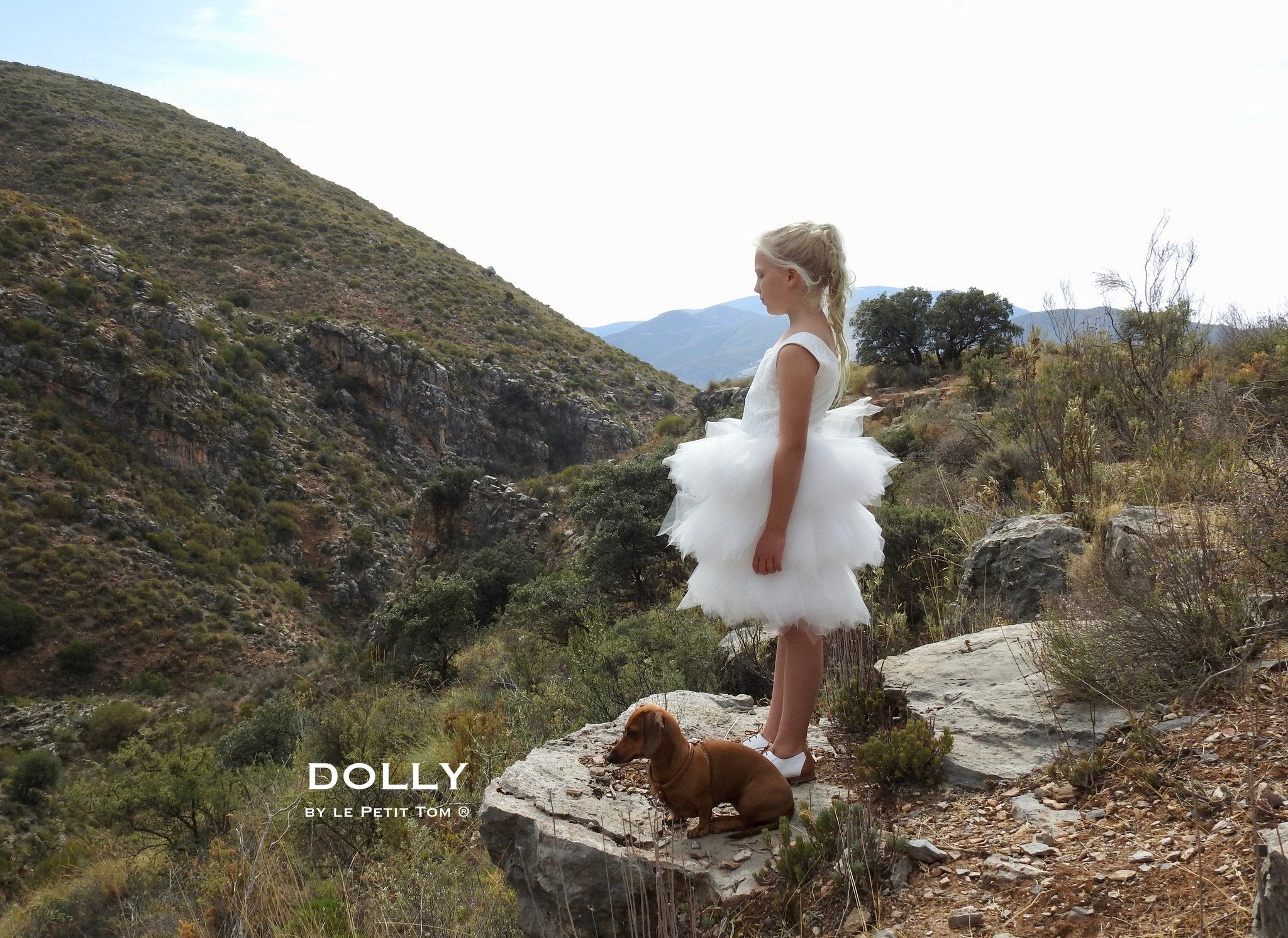 DOLLY by Le Petit Tom ® the PIROUETTE DRESS off-white - DOLLY by Le Petit Tom ®