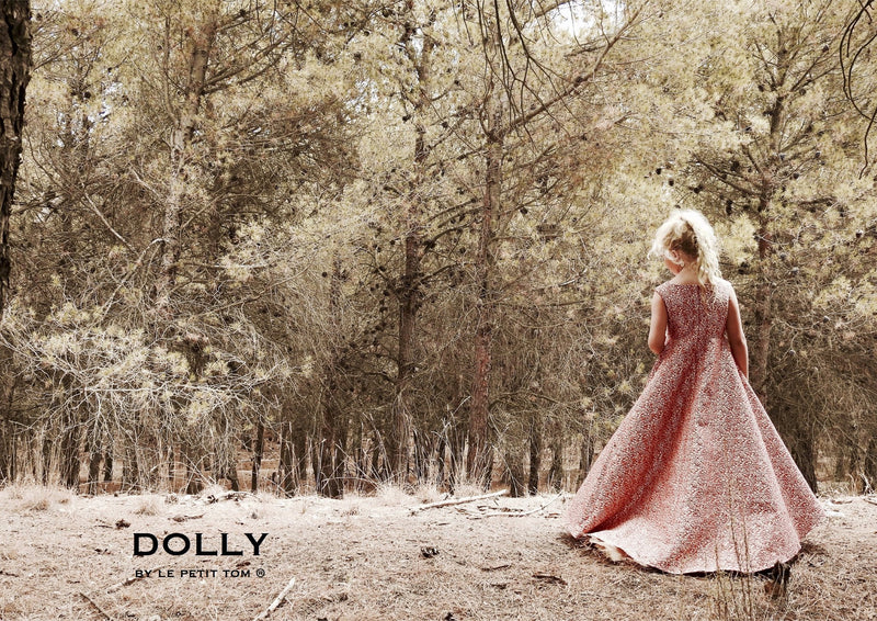 DOLLY by Le Petit Tom ® VIVID MEMORY 'Snow White' JACQUARD DRESS red - DOLLY by Le Petit Tom ®