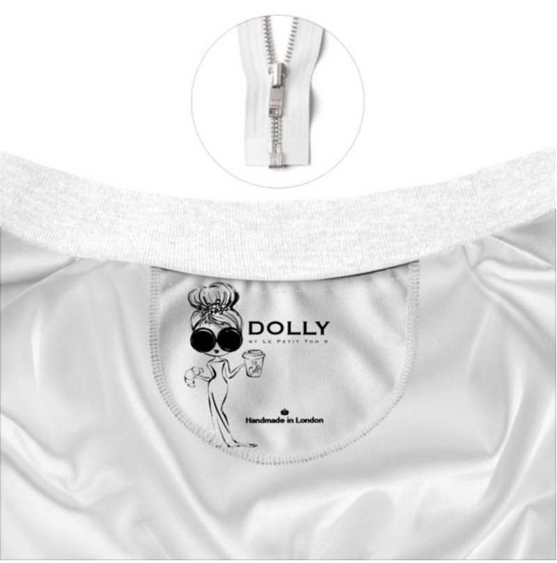 DOLLY GOLIGHTLY BOMBER JACKET black & white