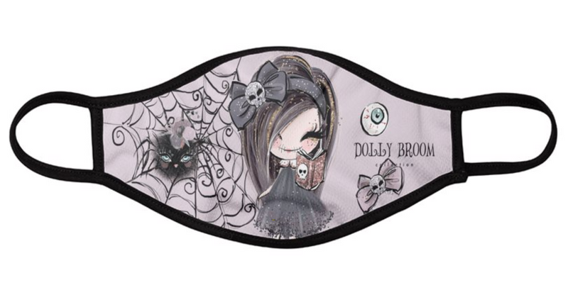 [OUTLET] DOLLY BROOM BREATHABLE FASHION FACE MASK MOUTH CAP ( Set of 2) DOLL & SPIDER