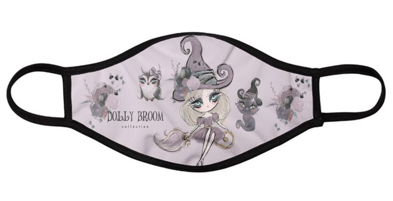 [OUTLET] DOLLY BROOM BREATHABLE FASHION FACE MASK MOUTH CAP ( Set of 2) DOLL & CAT