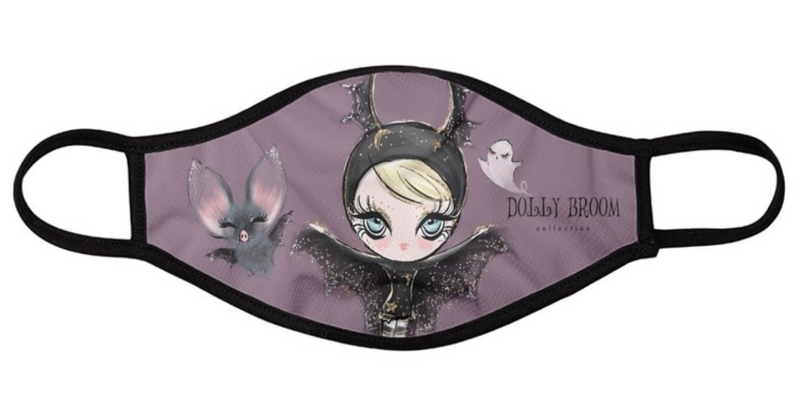 [OUTLET] DOLLY BROOM BREATHABLE FASHION FACE MASK MOUTH CAP ( Set of 2) DOLL & BATS