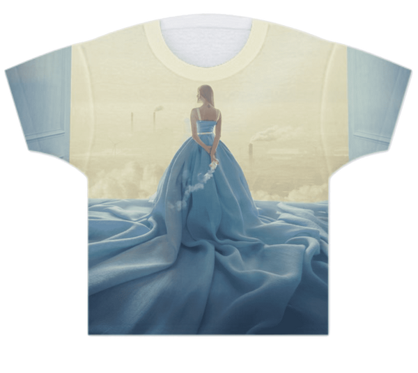 DOLLY GIRLS T-SHIRT QUEEN OF THE ENVIRONMENT light blue