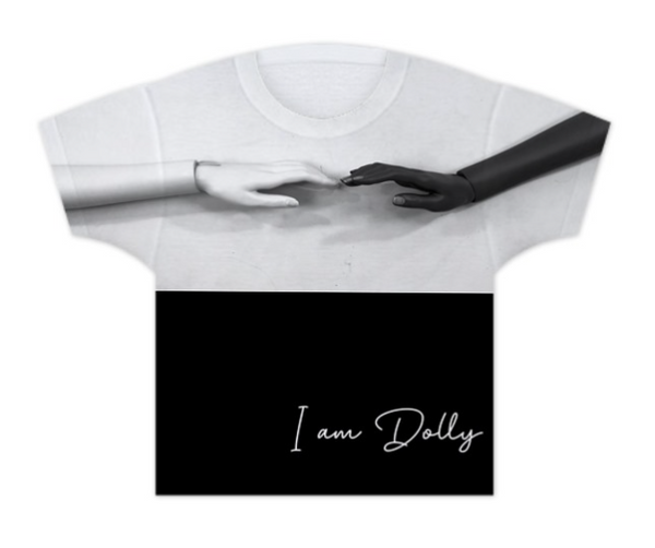 GIRLS T-SHIRT I AM DOLLYANGELO black