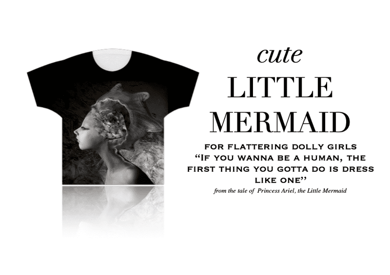 DOLLY GIRLS T-SHIRT LITTLE MERMAID taupe