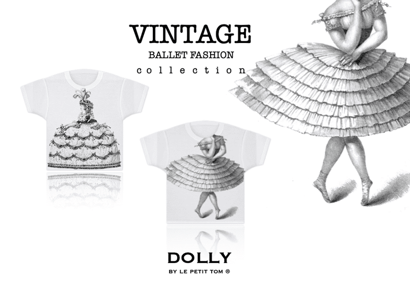 DOLLY VINTAGE GIRLS T-SHIRT TOTALLY RUFFLED BALLERINA white