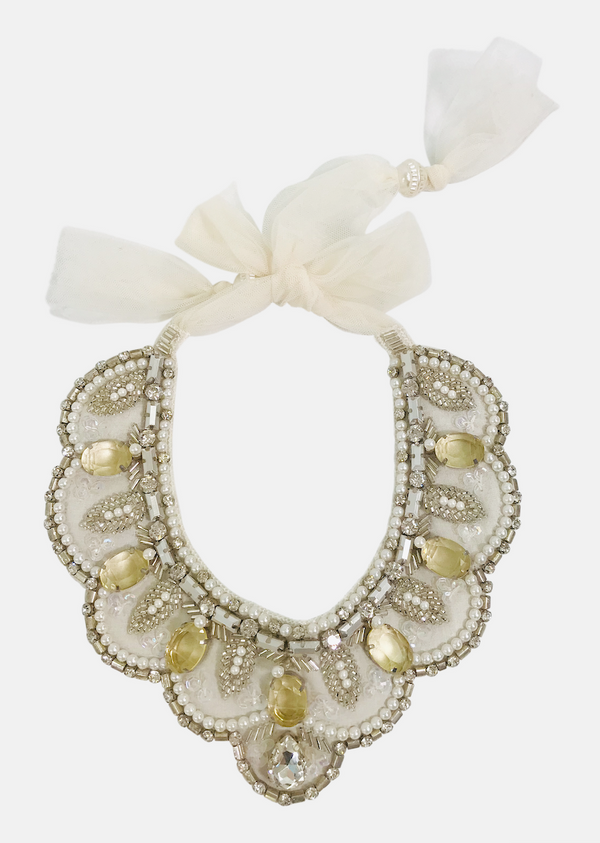 DOLLY by Le Petit Tom ® JEWELER'S CRYSTALS Citrine necklace