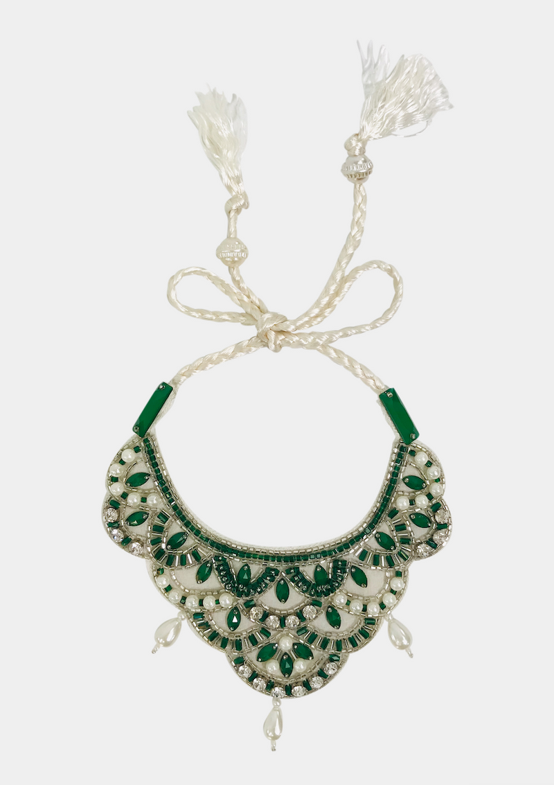 DOLLY by Le Petit Tom ® JEWELER'S CRYSTALS Emerald necklace