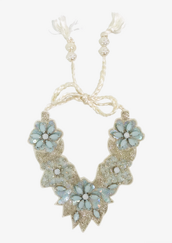 DOLLY by Le Petit Tom ® JEWELER'S CRYSTALS Aquamarine crystal necklace