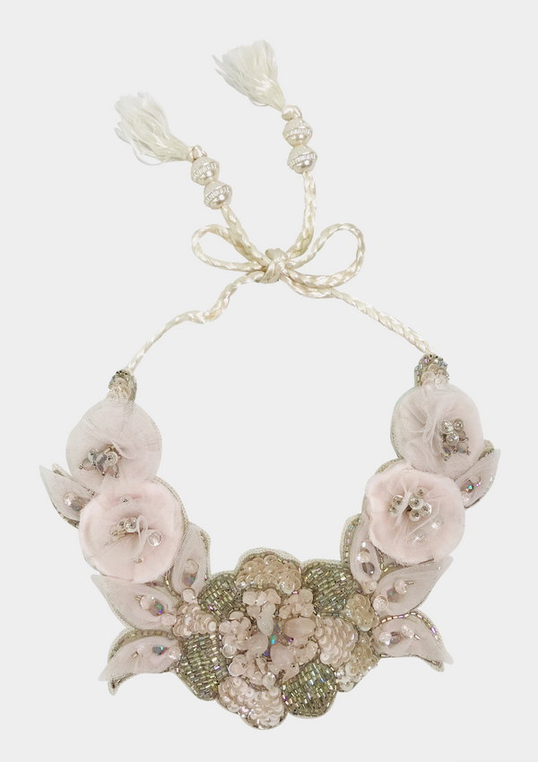 DOLLY by Le Petit Tom ® JEWELER'S CRYSTALS Rose Quartz necklace
