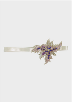 DOLLY JEWELER'S CRYSTALS Amethyst crystals elastic headband