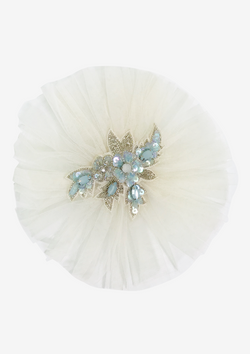 DOLLY by Le Petit Tom ® JEWELER'S CRYSTALS Aquamarine hair clip/ broach