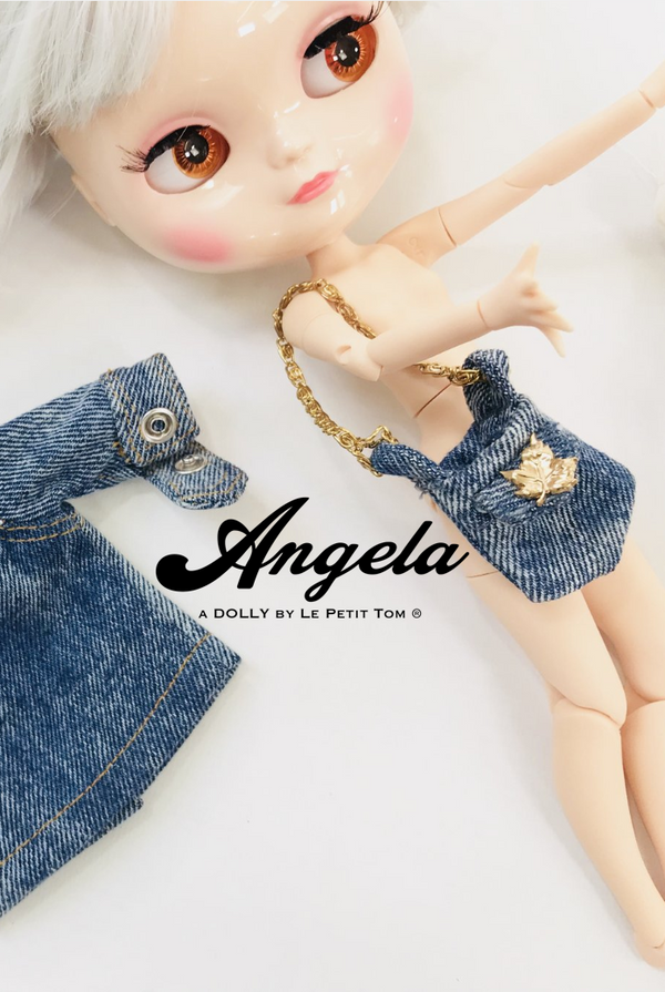 ANGELA Doll accessories DOLLY's DENIM BAG
