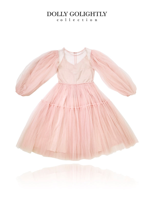 DOLLY GOLIGHTLY TEA TUTU DRESS ballet pink
