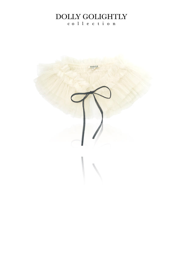 DOLLY GOLIGHTLY TULLE NECK RUFFLE I ♥coffee