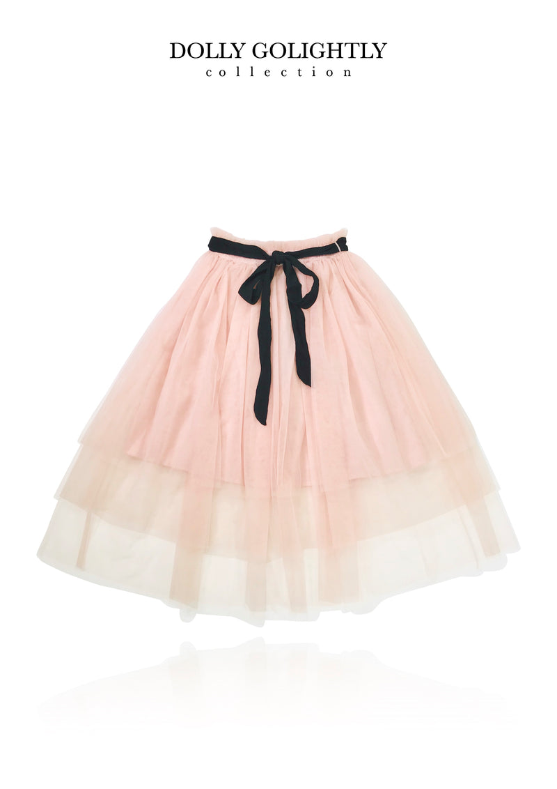 DOLLY GOLIGHTLY TUTU WITH STRING TIE ballet pink