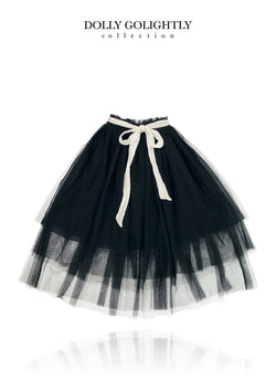 DOLLY GOLIGHTLY TUTU WITH STRING TIE black