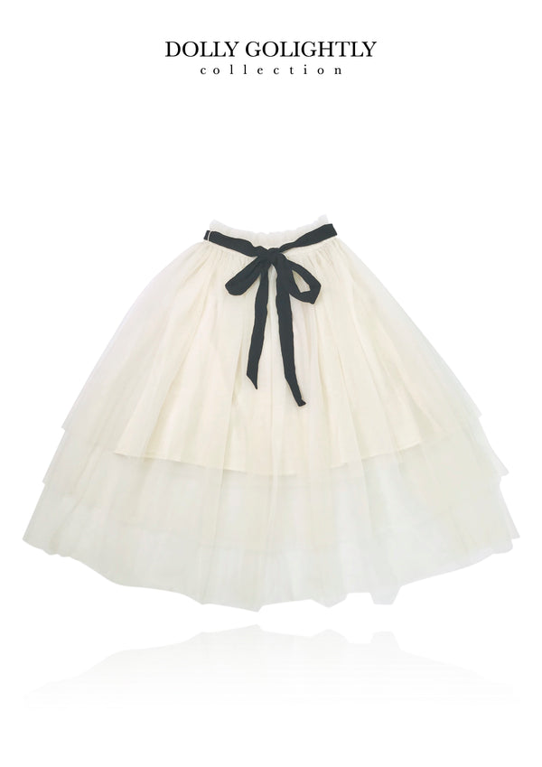 [ OUTLET] DOLLY GOLIGHTLY TUTU WITH STRING TIE MIDI SKIRT I ♥coffee