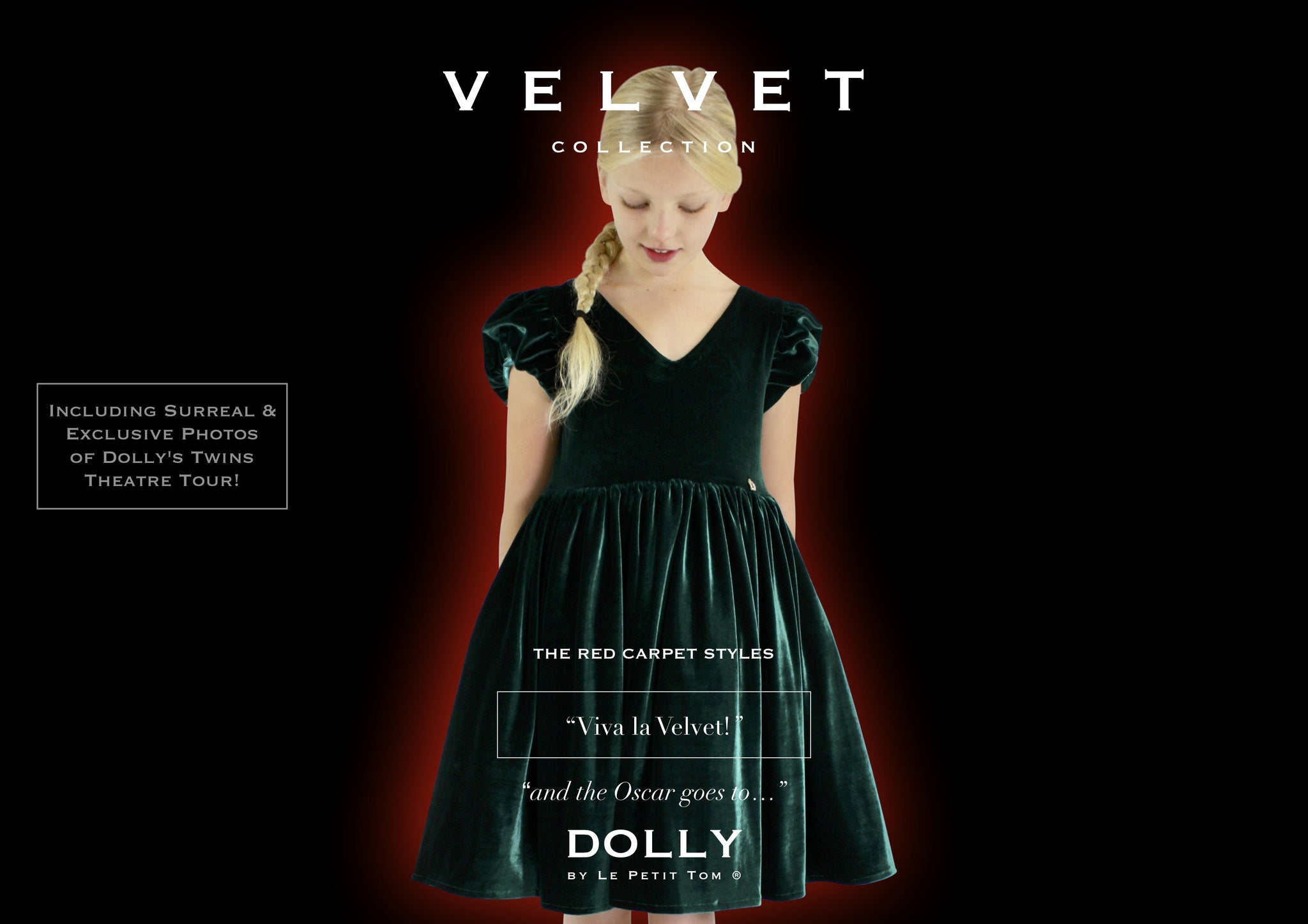 DOLLY by Le Petit Tom ® VELVET THE FAIRYTALE DRESS emerald - DOLLY by Le Petit Tom ®