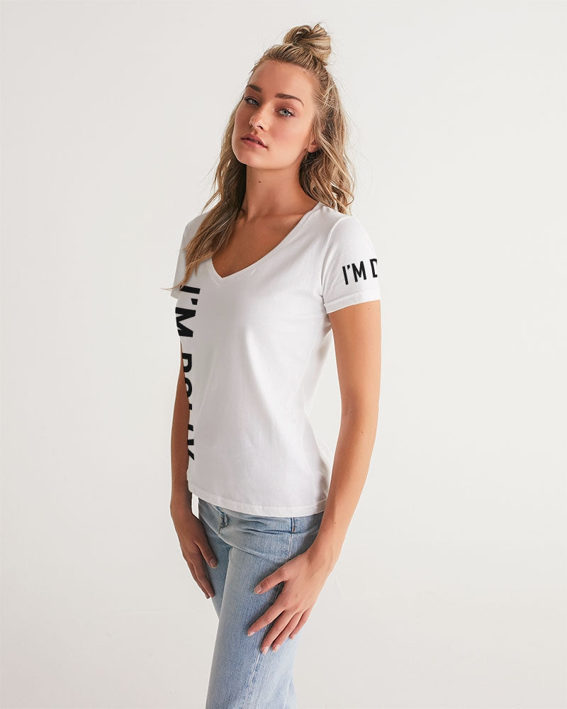 I'M DOLLY Women's V-Neck Tee