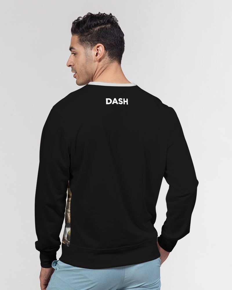 DASH NUTS Men's Classic French Terry Crewneck Pullover