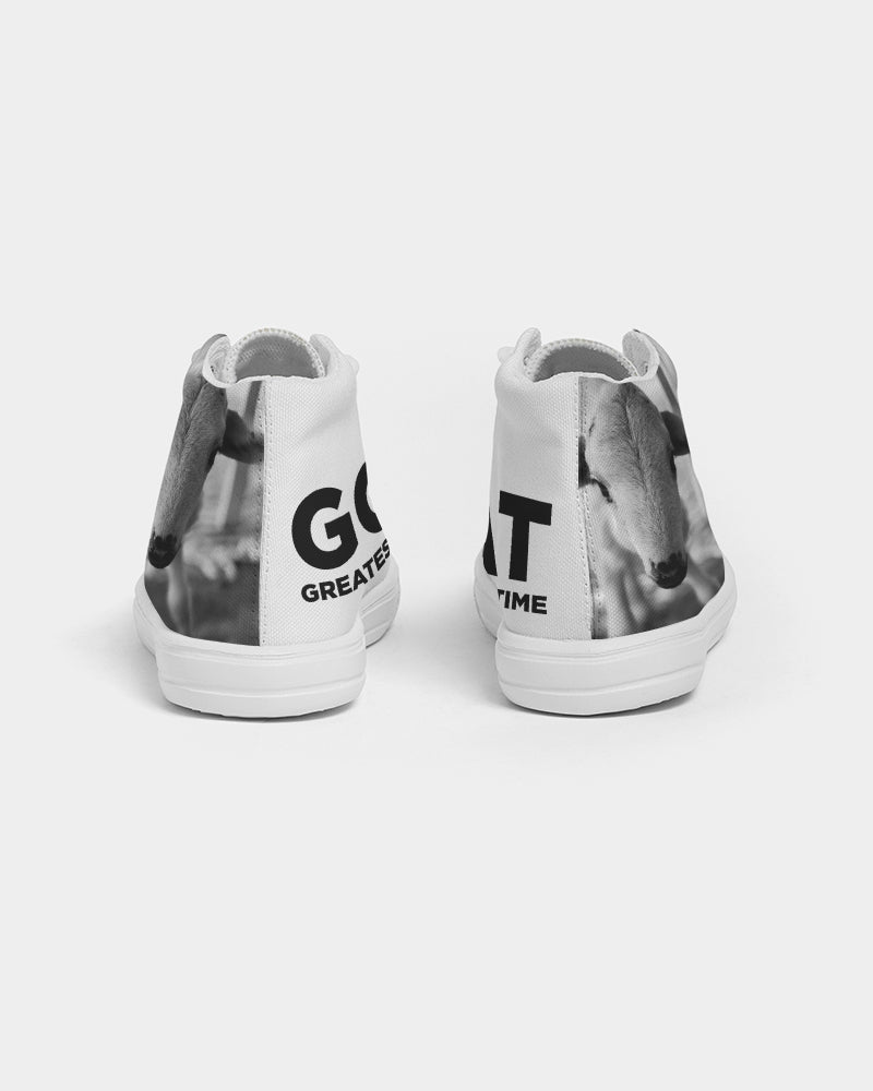 DASH G.O.A.T. ( Greatest Of All Time)  Kids Hightop Canvas Shoe