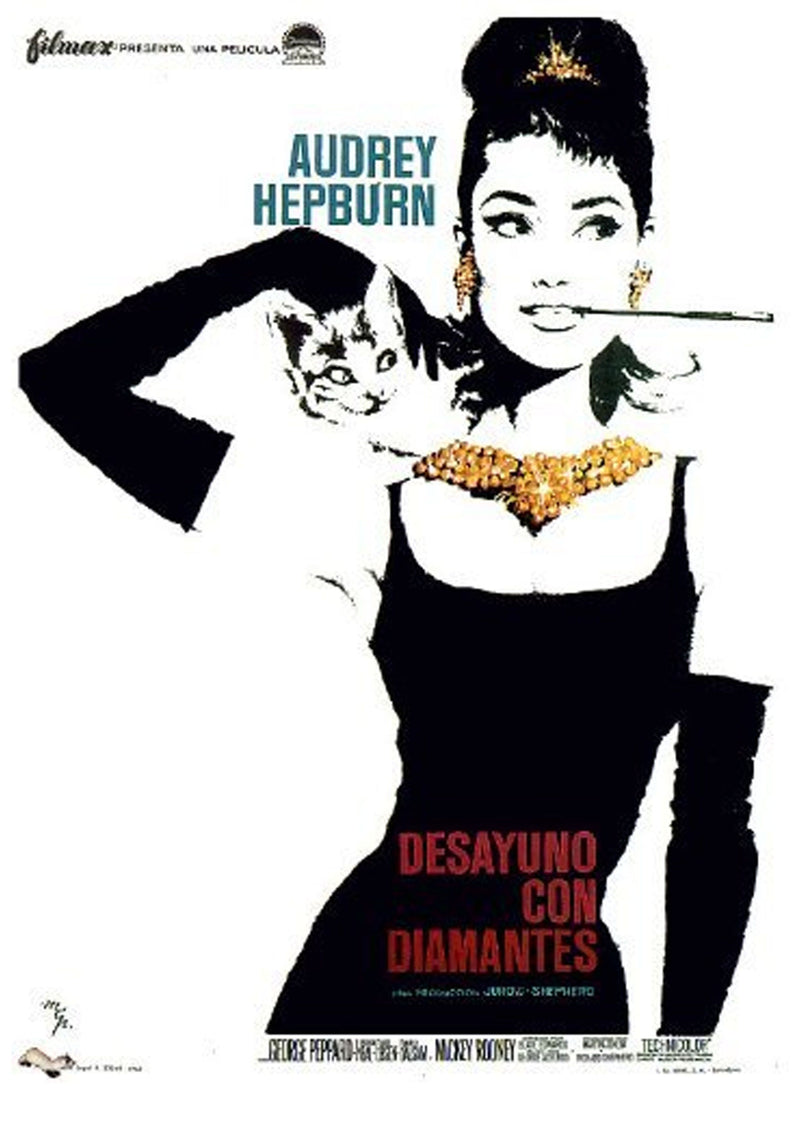 DOLLY GOLIGHTLY  BREATHABLE FASHION FACE MASK ( Set of 4) BREAKFAST AT TIFFANY'S MOVIE POSTERS