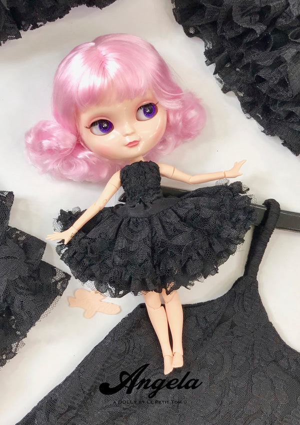 ANGELA Doll ICY doll SHORT BOB PINK + Dolly Lacy Fashion & bag