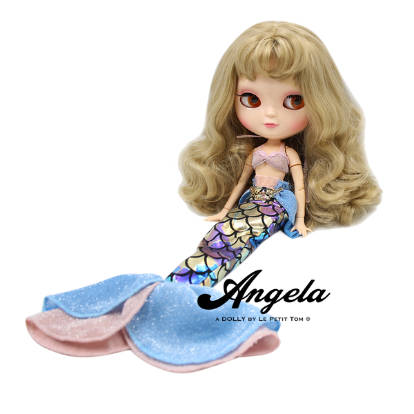 [ OUTLET] ANGELA Doll MERMAID DRESS SUIT SET FISH TAIL & BIKINI TOP