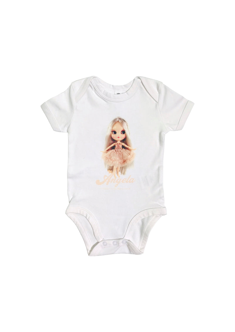 [OUTLET!] ANGELA DOLLY by Le Petit Tom ® Baby Romper Onesie Angela doll ballet pink
