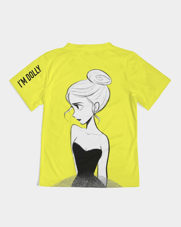 DOLLY DOODLING Ballerina Sunshine Neon Yellow Kids Tee