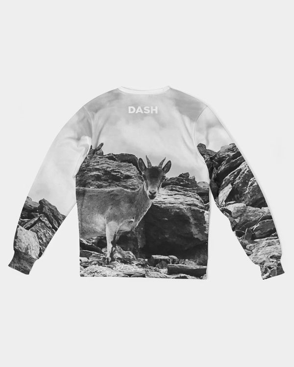 DASH CAMO CAPRICORN Men's Classic French Terry Crewneck Pullover