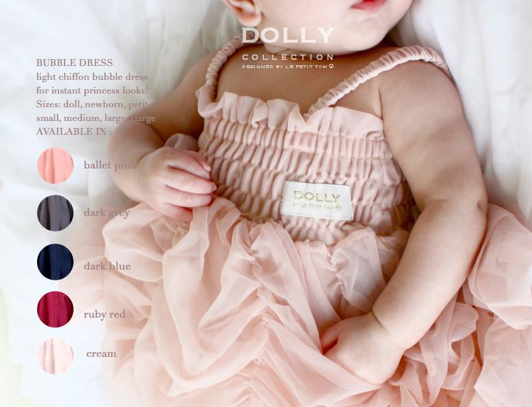 DOLLY by Le Petit Tom ® BUBBLE DRESS ballet pink - DOLLY by Le Petit Tom ®
