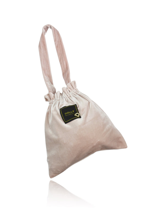 DOLLY by Le Petit Tom ® VELVET POUCH BAG ballet pink - DOLLY by Le Petit Tom ®
