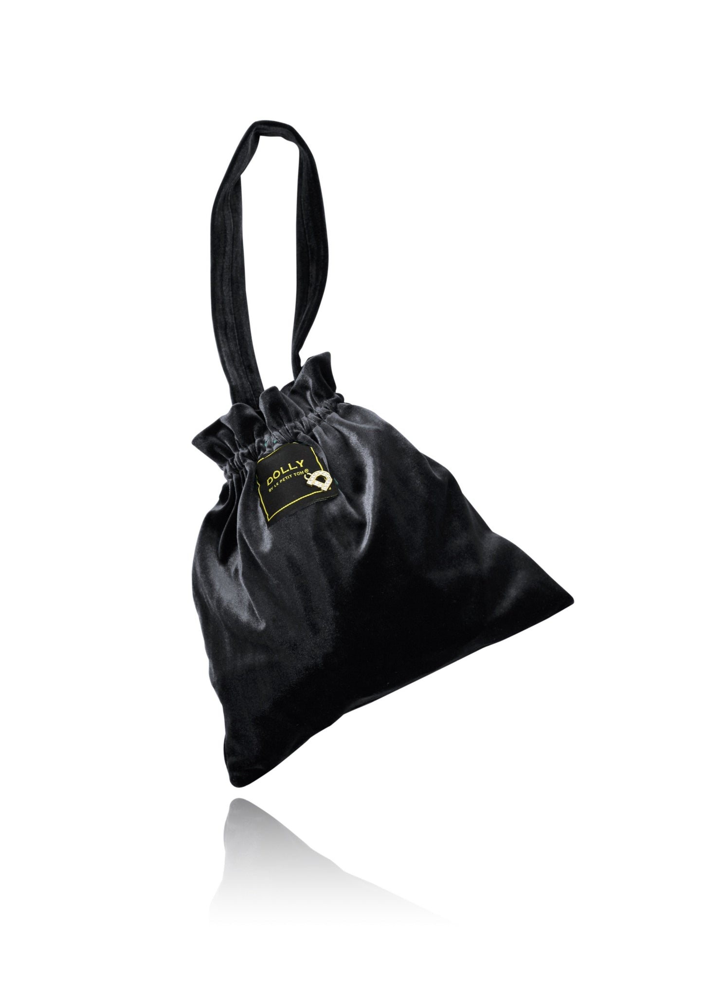 DOLLY by Le Petit Tom ® VELVET POUCH BAG black